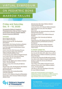 Virtual Symposium on Pediatric Bone Marrow Failure - October 10