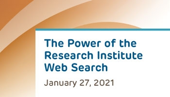 The Power of the Research Institute Web Search