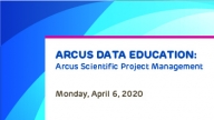Arcus Scientific Project Management