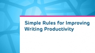 ATOP Simple Rules for Writing